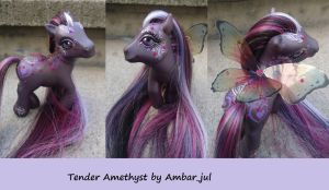 My little pony custom Tender Amethyst by AmbarJulieta