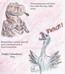 Dinosaur Valentine Card by Velociraptor-King