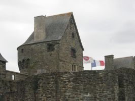 castle with flags by bluemacgirl