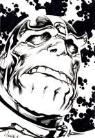 Thanos Terrified by Tom Raney by IamSpeck