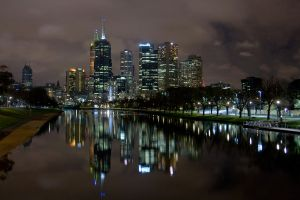 Melbourne City Skyline by Braunaudio