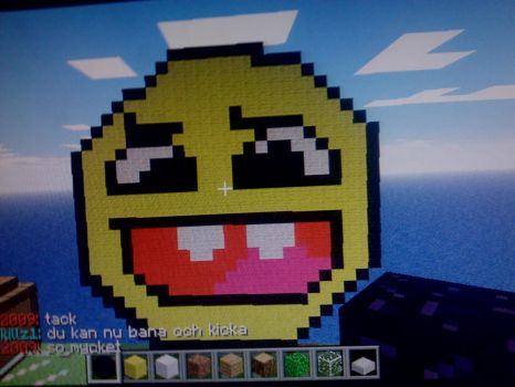 Minecraft Epic Face by Edlunnd
