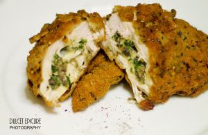 Pesto and Mozzarella Stuffed Chicken Breast by DulcetEpicure