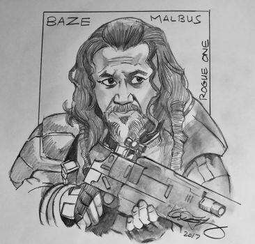 Baze Malbus - Rogue One by kennf11