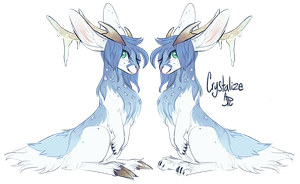 Character Design: Crystalize Jackalope by CloverCoin