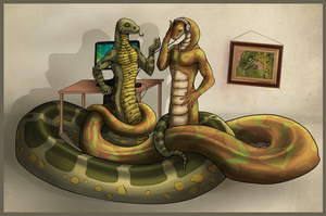 Snake's tails by Svetoch-the-Veris