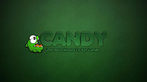 Candy Text Effect  With Om Nom by rumorbox33