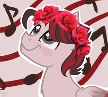 Crimson Strings' Flower Crown by Drawing-Heart