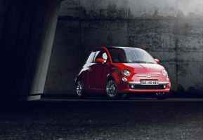 Fiat 500 Red by MUCK-ONE