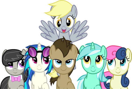 The Background Six - Making Derpy's Day by Firestorm-CAN