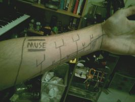 Muse Origin of Symmetry Album cover arm thingy by Tylantta9