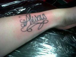 Severus Snape 'Always' Tattoo by RiianMangaka