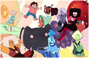 FANART // WE! ARE THE CRYSTAL GEMS by dai