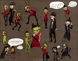 Invader Zim  Colored Sketches by Vongrell