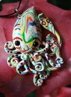 Bright Squid Charm by BlackMagdalena
