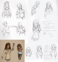 Character Sketch Dump by fainting-goat