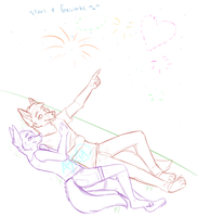 YCH anthro auction - set off fireworks in my heart by AYRlA