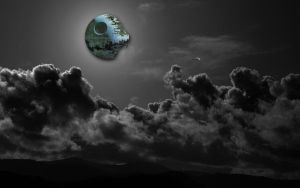 death star over marin by zendorfive