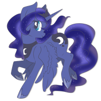 Filly Princess Luna by Rannarbananar
