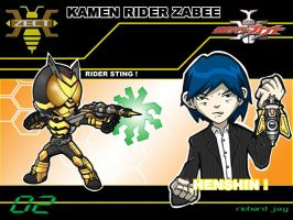 Kamen Rider Zabee by the-tracer