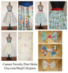 Custom Novelty Print DisneyBound Skirts by Caliypsoe