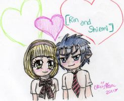 Rin and Shiemi Chibis by cleris4ever