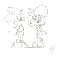 Classic Sonic and Sally by FritzyBeat