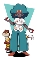 Lenora and Watchog by thweatted