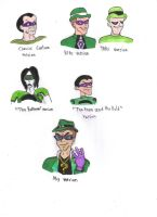 Different Styles of The Riddler by KessieLou