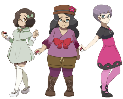Pokemon Trainer Sprites by LisaLoohoo