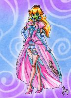 Beautiful Princess Peach Masked by kyo-domesticfucker