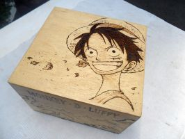 One Piece: Luffy [First Work / Woodburning] by dcmorais