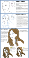 Semi-Realistic Hair TUTORIAL by the-kiwi-nemesis