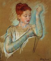 The Long Gloves by Marie Cassatt by KanchanCollage
