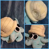 Omanyte Plush by simplychicgeek