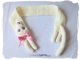 Sweet Cream Kitty Cat Scarf by Cateaclysmic