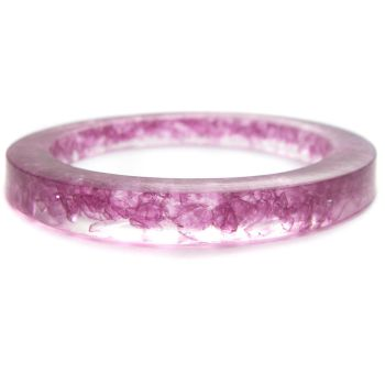 Purple Resin Crystal Bangle by fairy-cakes