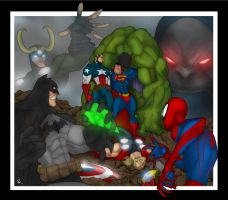 Superman VS Avengers 2 by Helmsberg