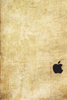 iPhone 4S Sepia Wallpaper Black Logo by SimpleWallpapers
