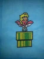 Close up of Princess Peach bag by Sew-Madd