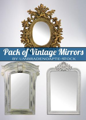 Vintage Mirrors Pack(PSD) by UmbraDeNoapte-Stock