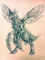 Scyther Concept Sketch by ReneCampbellArt