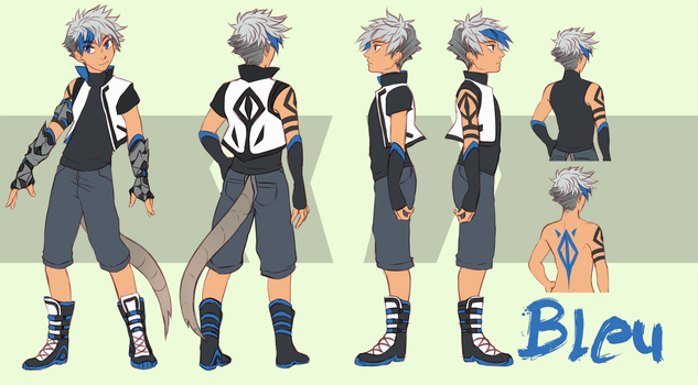 RWBY Concept Character: Bleu by Yobot