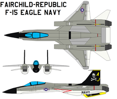 Fairchild F-15 Eagle NAVY by bagera3005