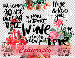 Calligraphy PNGs by Bellacrix