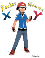 Ash Ketchum XY Outfit (Colored) by Minorkrama