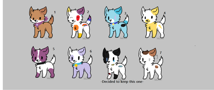 Adopts! (All adopted) by XxTidTordXx12