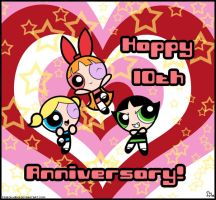 10 Years of Powerpuff Girls by Sireinita