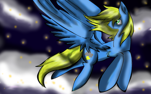 A Lightning Flash in the Sky :request: by StarShineTheAlicorn