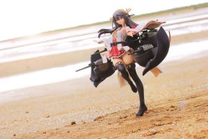 Haruna at the Beach by Awesomealexis1